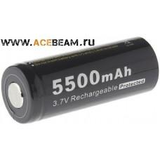 Аккумулятор Soshine 26650 на 5500 mAh с защитой